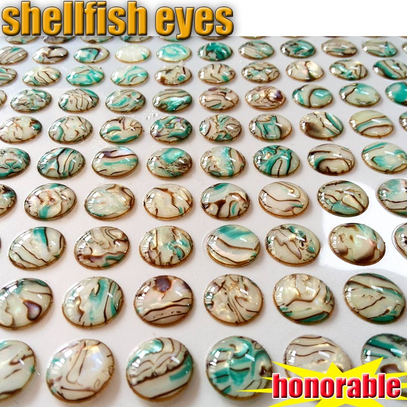 Honourable and beautiful shell pattern fish eyes  lure 4MM-5MM-6MM-8MM number:300pcs/lot