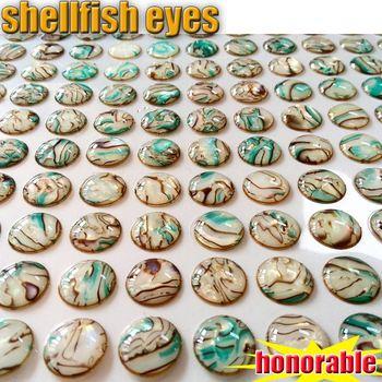 Señuelo con ojos de pez con diseño de concha adorable y hermoso 4MM-5MM-6MM-8MM número 300 unids/lote