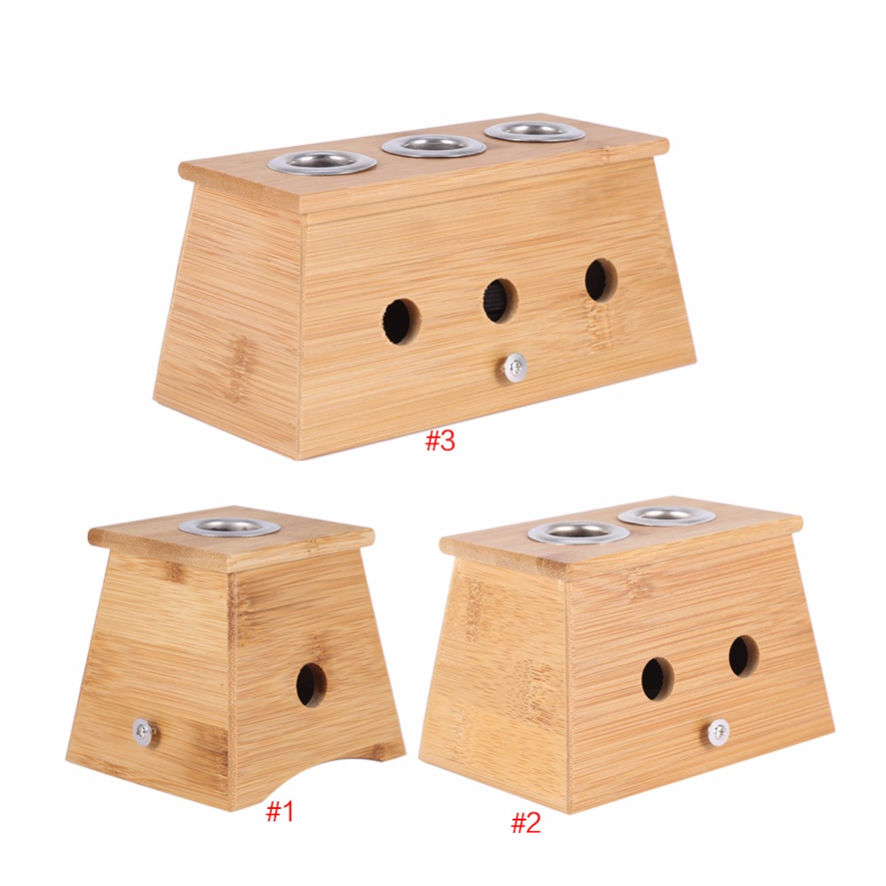 Bamboo Moxa Moxibustion Box Acupuncture Relaxation Roller Stick Holder Neck Arm Body Acupoint Massage Moxibuting Therapy Device