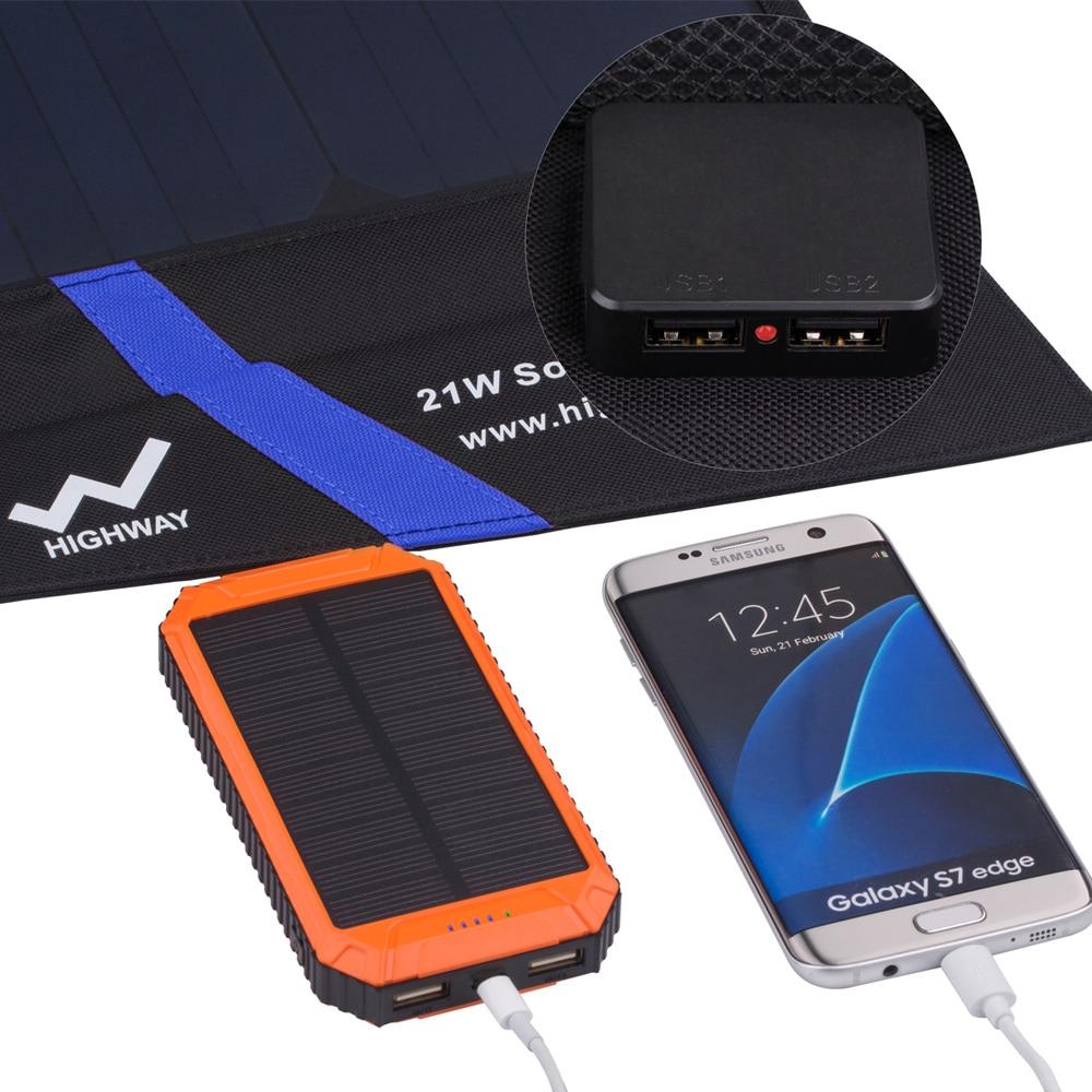 PowerGreen Güneş Mobil Şarj 21 Watt Katlanabilir Güneş Paneli - Cep Telefonu Yedek Parça ve Aksesuarları - Fotoğraf 3