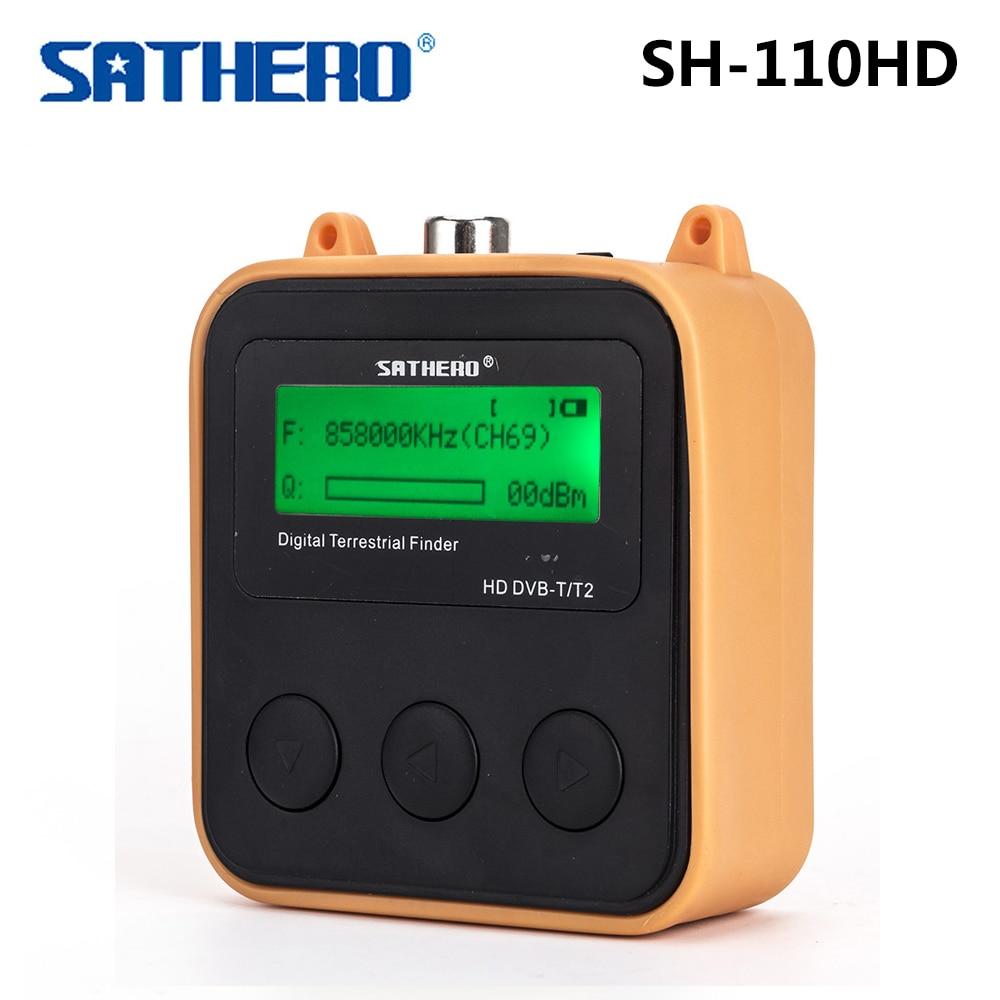Sathero SH-110HD DVB-T DVB-T2 écran LCD poche numérique terrestre trouveur Support QPSK compteur de Signal Digtal mètre Sat Finder