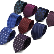 7.5 cm luxury ties Men Tie Fashion Striped Neckties Corbatas Gravata Jacquard Business mans Wedding dress Slim