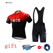 2019 New INEOS Team Summer Cycling Jersey Set Breathable Team Racing Sport Bicycle Jersey Men Cycling Clothing Short Bike Jersey