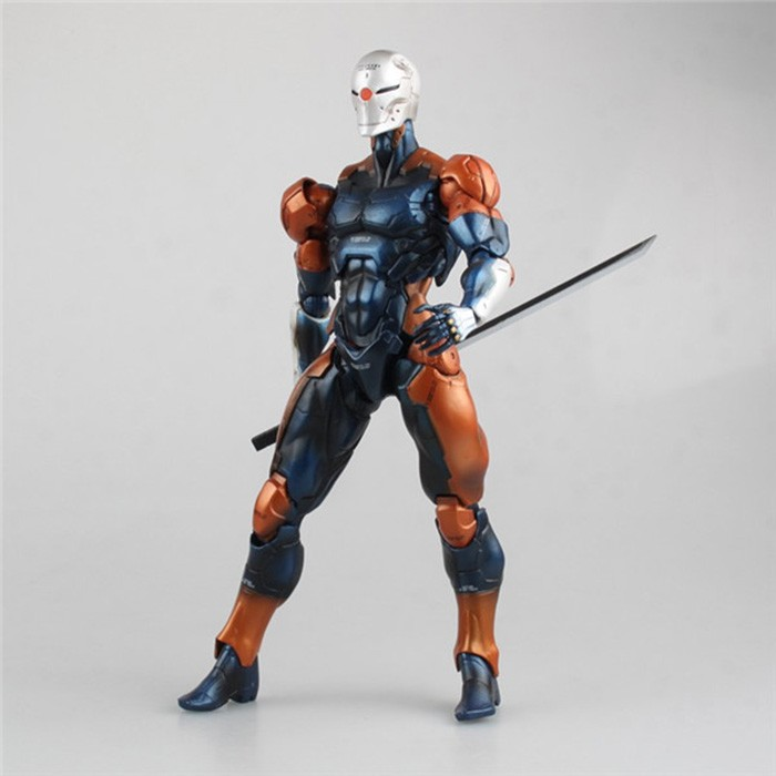 Free Shipping 10 PA KAI Metal Gear Solid Revoltech Gray Fox Cyborg Ninja Blue Ver. Boxed 24cm PVC Action Figure Model Doll Toy игрушка ecx ruckus gray blue ecx00013t1