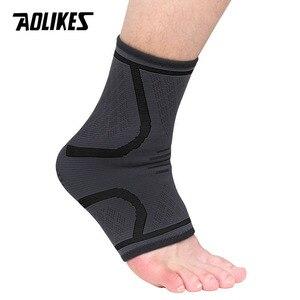 AOLIKES 1 шт. бандаж для лодыжки компрессионный поддерживающий рукав эластичный дышащий для восстановления травм боли в суставах femme ноги спортивные носки