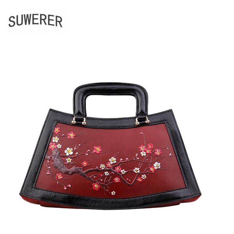 2018 New women bag genuine leather brands top cowhide Hand painted Embossed flower fashion women handbags leather shoulder bag chispaulo women genuine leather handbags cowhide patent famous brands designer handbags high quality tote bag bolsa tassel c165