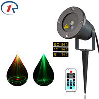 ZjRight IR Remote RG Party Laser Light DJ Outdoor Garden Gala Projection Holiday Laser Xmas Tree