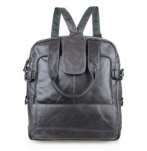 Free Shipping Cowboy Genuine Leather Trendy School Backpacks Laptops # 7065I