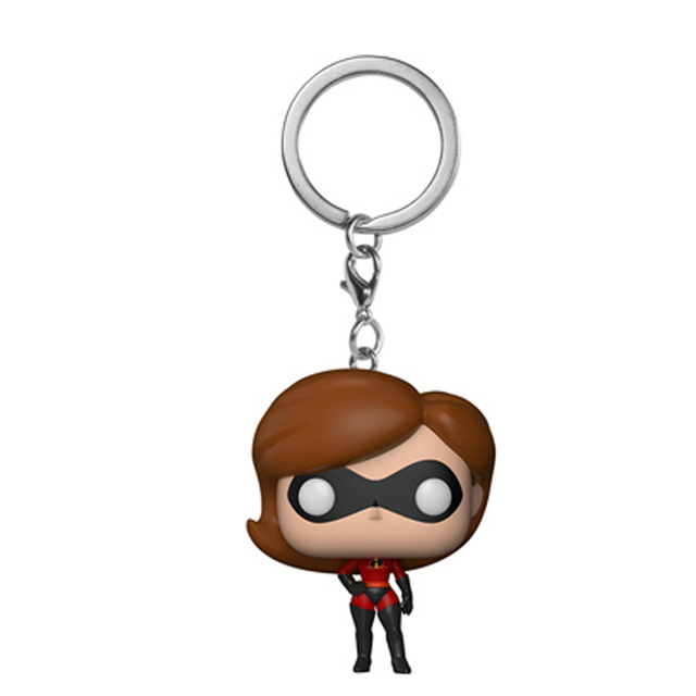 The Incredibles 2 Figures Elastigirl Jack-Jack Key chain Toys With Retail Box 4cm