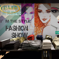 Custom photo wallpaper 3D hand painted ladies fashion hairstyle salon barber salon clothing store wallpaper mural