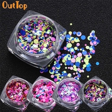 9g/Jar Mini Round Nail Art Paillette Tips Gel Polish Nail Decoration Drop Shipping Fashion OutTop LBC May18