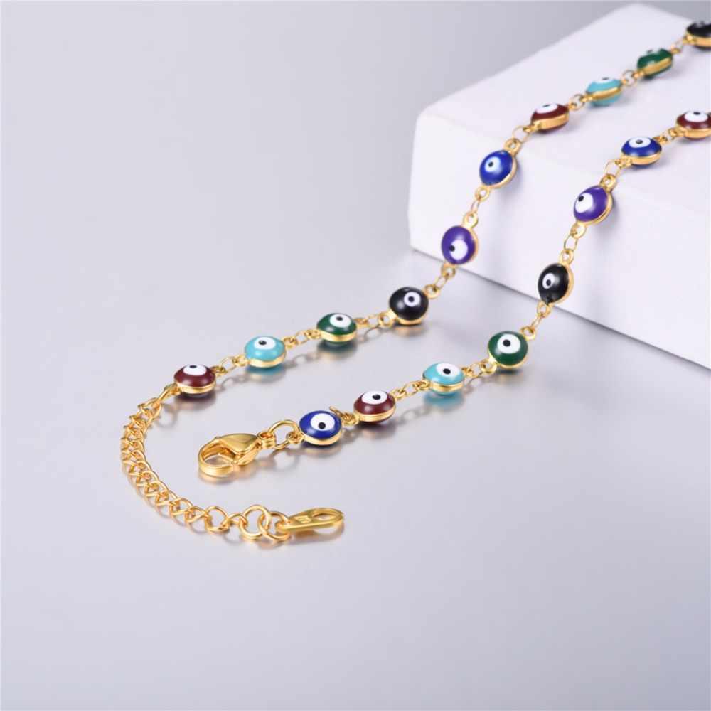 Collare naszyjnik różaniec kobiety oczy Link Chain złoty kolor ze stali nierdzewnej medalik świętego benedykta naszyjnik krzyż biżuteria N121