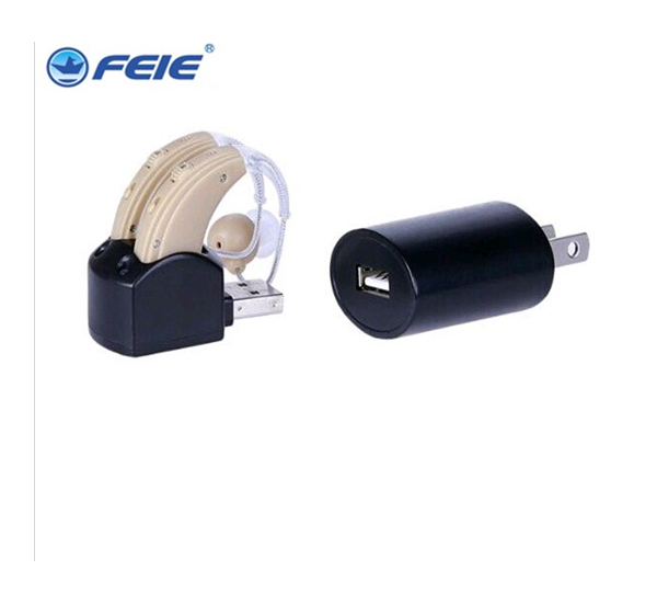Feie medical devices  headphones behind the ears double device ear aid aids audifono rechargable S-109S free shipping