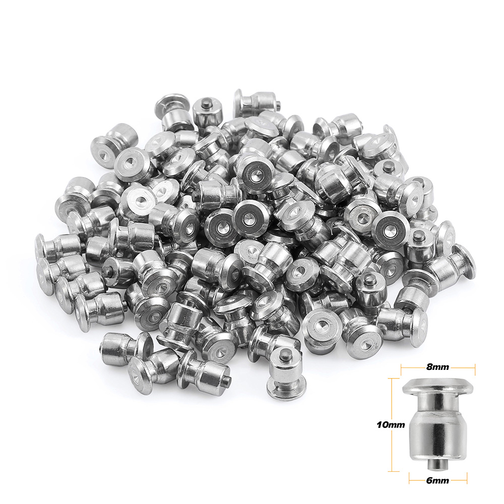 Fauge 500PCS 12mm metal Tire Studs//Spikes for tires//Screw studs//Screw Snow Wheel Tyres Studs for Car,bicycle,bike,Motorbike Tires in Winter