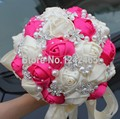 New Style Buque De Noiva Artificial Rosa Red-white Romantic Wedding Bouquet Mosaic Pearl High-grade Bridal Holding Flowers SH20