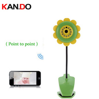 Sunflower WIFI Wireless Baby Monitor Vedio Camera Monitor Wifi IR Night Vision Sleep Monitor Camera Mini