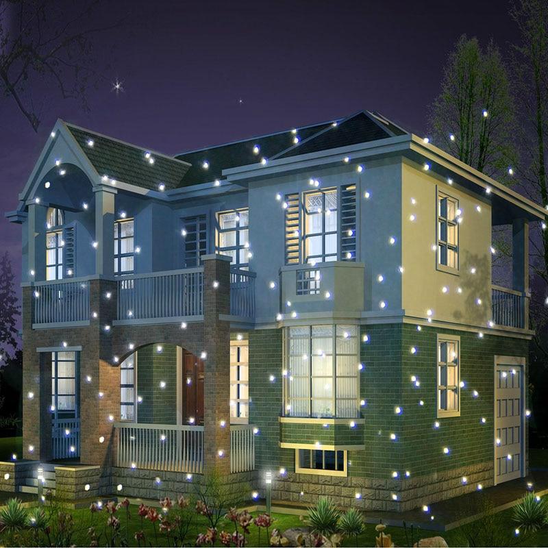 Online Shop Drop Ship 2017 White Led Snowfall Christmas Light  - Christmas Light Laser Projector