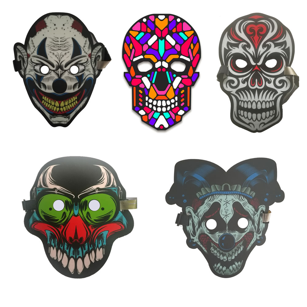 New Products 2018 Sound Activated Halloween EL Mask,Halloween Party Mask The Sound Reactive Led Mask ...