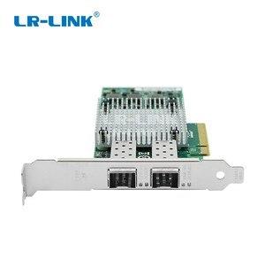 Image 3 - LR LINK 9812af 2sfp + 듀얼 포트 10 기가비트 이더넷 네트워크 카드 pci express 광섬유 서버 어댑터 nic broadcom bcm57810s