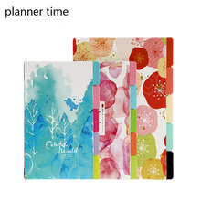 A5 A6 Flower Colored Delicate Art Paper Diario Planner Index Page Beautiful Retro Planner Inner Slip Sheet Binder Category Paper