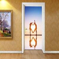 3D Naklejki Ścienne Naklejka Art Decor Vinyl Zdejmowane Ścienne Plakat Sceny Okna Drzwi Hurtowni Darmowa Wysyłka RJL12 # A10