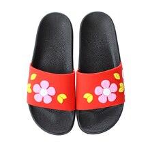 Women Summer Slippers PVC Flower Flats Fashion Woman Outdoor Slipper Beach Slides Home Floor Shoes