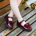2017 Niños Del Resorte muchachas de la princesa de cuero zapatos niños zapatillas de baile solos zapatos para niñas zapatos planos sandalias de las muchachas MY09