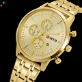 NORTH Men Watch Gold Luxury Stainless Steel Watch Clock Male Dress Watch Brand Waterproof Casual Clock Box Men Quartz Watches