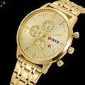 North homens relógio de ouro relógio de aço inoxidável relógio masculino relógio vestido marca de luxo à prova d' água caixa de relógio casual homens relógios de quartzo