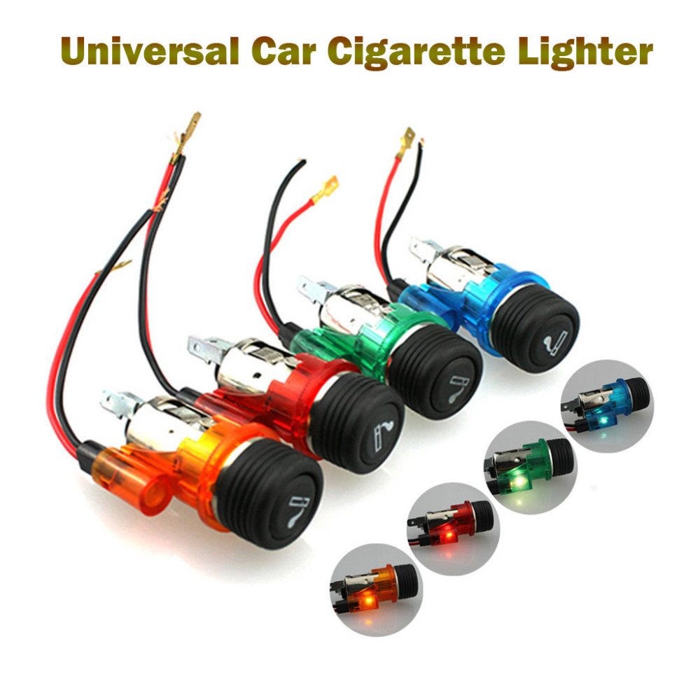12V 120W Waterproof Universal Car Boat Motorcycle Cigarette Lighter Power Socket Plug Auto Accessories Cigarette Lighter(China)