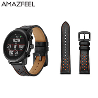 Band For Original Xiaomi Huami Amazfit 2 Amazfit Stratos Pace 2 Smart Watch Band Genuine Leather