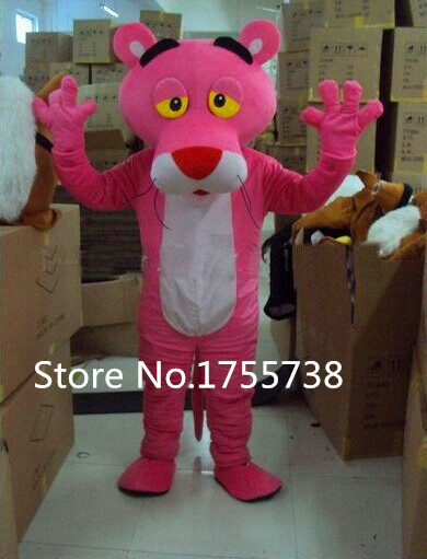 Adult size pink panther Mascot costume cartoon clothing mascot Costume Free shipping
