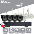 Holdoor 4CH WiFi Wireless NVR Kit Security System 720P Network Camera Wireless Wire Network Waterproof Night Vision for Home