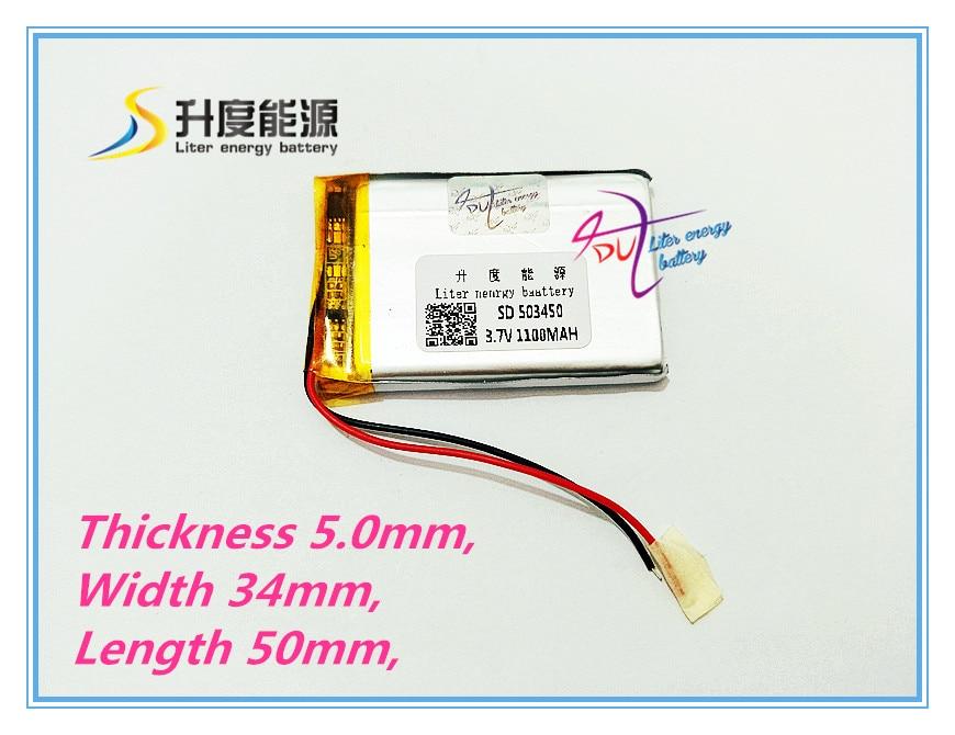 Gastfreundlich Neue Gps 503450 1100 Mah Lithium-ionen Polymer Batterie 3,7 V Mp3/4 Navigation Intelligente Wasser Mete Die Tablet Batterie Attraktive Designs; Tablet-akkus & Backup-stromversorgung