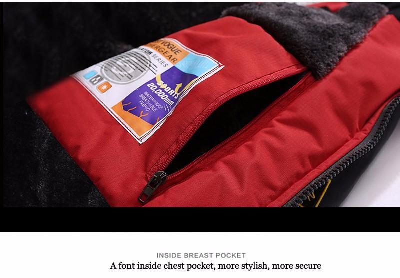 UNCO&BOROR winter jackets men women`s outwear fleece thick warm cotton down coat waterproof windproof parka men brand clothing 26