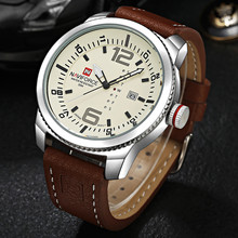 NAVIFORCE Men Military Sports Watches Men's Quartz Date Casual luxury Leather men Wrist Watch Relojes hombre 2017 clock for gift