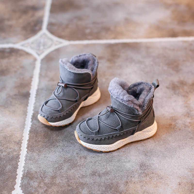 Kids Freezing Cold Winter Snow Boots Casual Boys Martin Boots Girls Warm Sneakers Shoes Fashion Real Leather Children Snow Boots 2016 new winter kids snow boots children warm thick waterproof martin boots girls boys fashion soft buckle shoes baby snow boots
