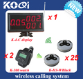 Restaurante sistema de alarme 433.92 mhz sem fio, O serviço de garçom para, Com o número com relógio
