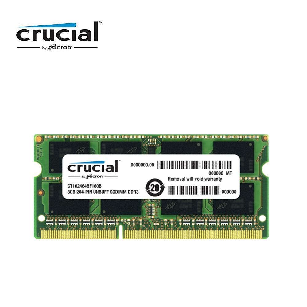 Crucial ram memory ddr3 8G 1600MHZ 1 35V CL11 204pin PC3 12800 Laptop Memory RAM SODIMM