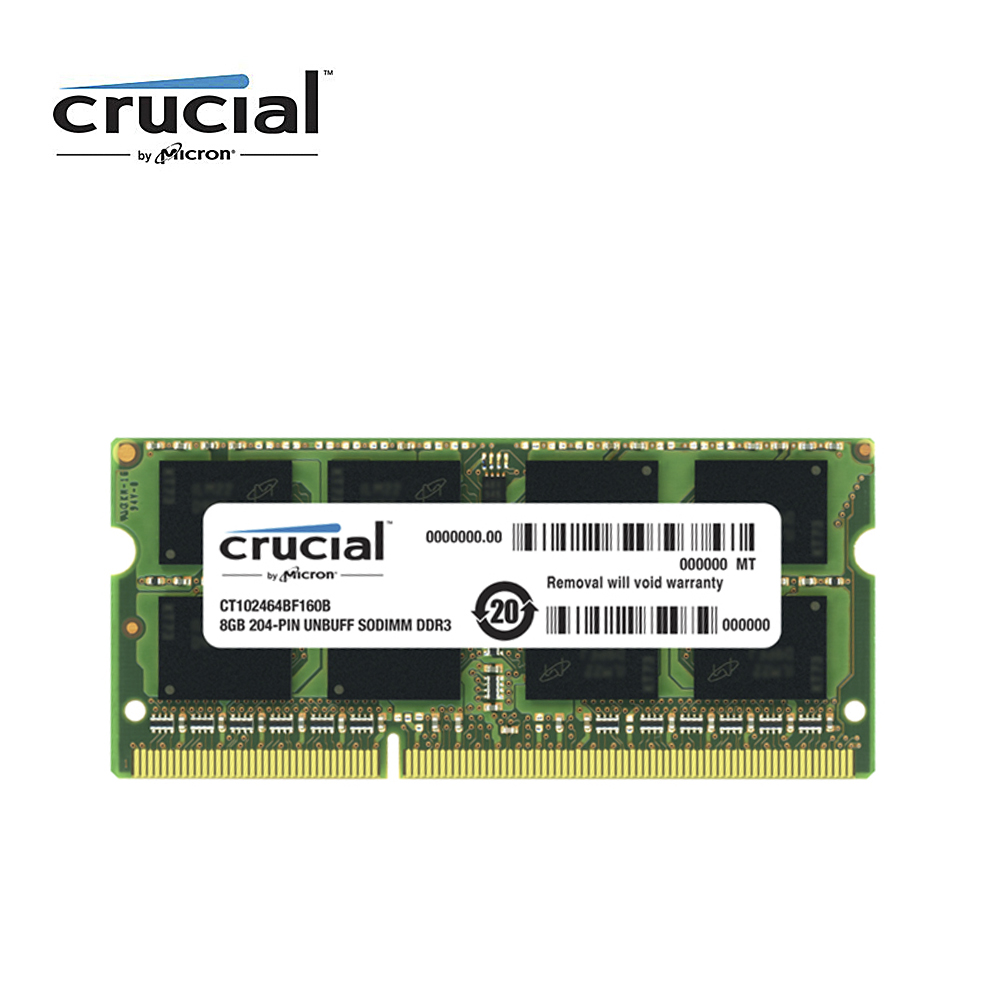 Crucial Ram Memory Ddr3 8G 1600MHZ 1.35V CL11 204pin PC3-12800 Laptop Memory RAM SODIMM