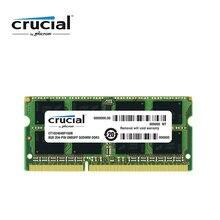 Memória ram crucial ddr3, 8g 1600mhz 1.35v cl11 204pin PC3-12800 laptop memória ram sodimm