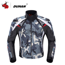 DUHAN Motorcycle Jacket Men Motocross Off Road Racing Jacket Protective Gear Camouflage Guards Clothing Blouson Moto