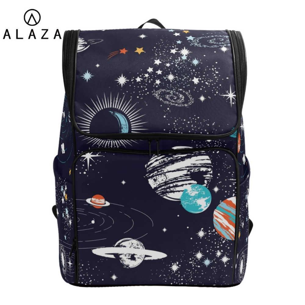 223baf2ac2df ALAZA Solar System Space Planet Polyester Backpack School Travel Bag ...