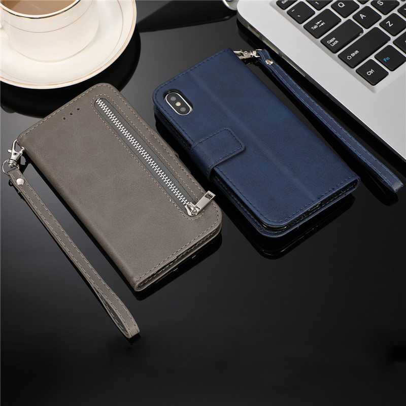 Leather Zipper 8plus Flip Wallet Case For iPhone 11 Pro X XS MAX XR 6 6s Leather Zipper 8plus Flip Wallet Case For iPhone 11 Pro X XS MAX XR 6 6s 7 8 Plus Card Holder Stand Phone Cover Coque Etui Mujer