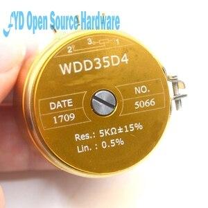 Image 5 - 1pcs WDD35D 4 precision conductive plastic potentiometer angular displacement sensor 1K 2K 5K 10K linear 0.5%