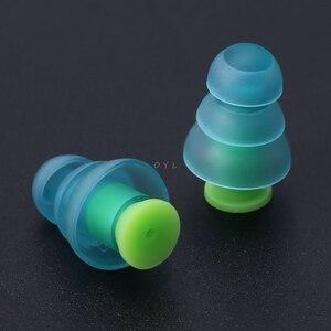 Image 4 - Силиконовые затычки для ушей, 1 пара, шумоподавление, многоразовые беруши для защиты слуха, новейшие