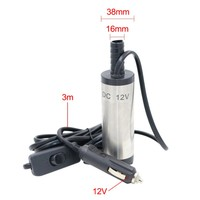 Newest DC 12V Mini Diesel Fuel Water Oil Car Camping Fishing Submersible Transfer Pump 3m Wire
