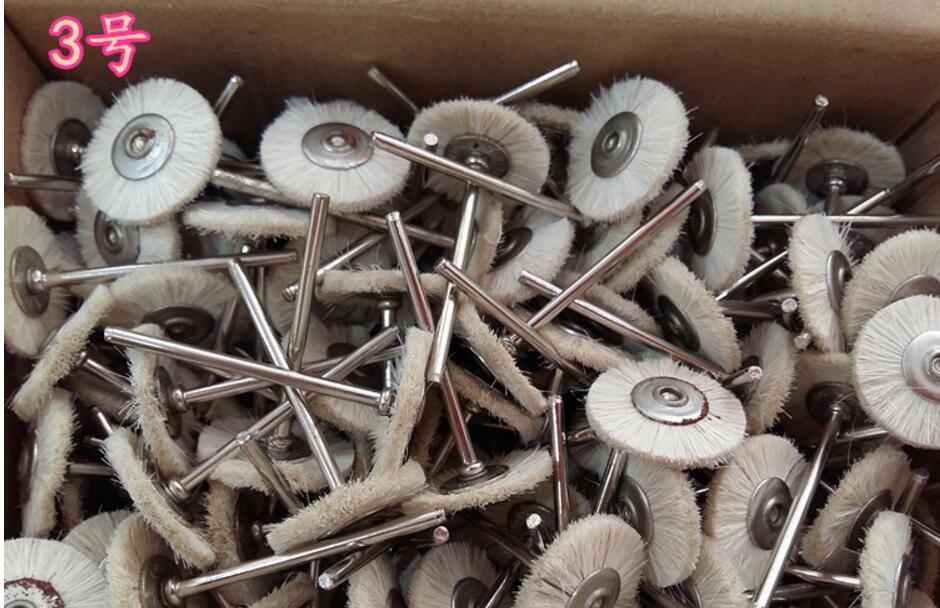 2,35mm braun borsten Pinsel für dremel bohrer werkzeuge 22mm durchm schmuck polierscheibe 144 stücke