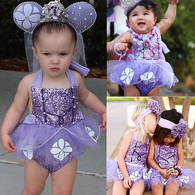 Sequins Newborn Baby Girl Sophia   Romper   Jumpsuit Outfit Backless Sunsuit Costume baby   rompers   girls 2017 new fashion