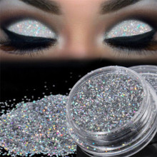 Fashion Sparkly Makeup Glitter Loose Powder Silver Eye Pigment Makup Glitter